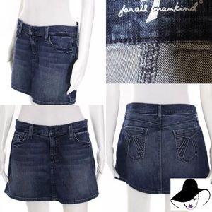 7 For All Mankind Dark Wash Denim Skirt Size 30